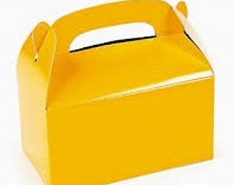 Yellow favor box, yellow gable box, party favor, candy box, - wedding favor, shower favor, birthday favor sports favor kids party favor