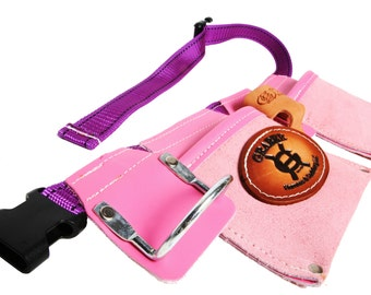 girls pink leather daddys helper tool belt