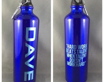 25oz Custom Personalized Laser Engraved Aluminum Water Bottle