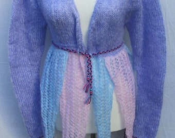 Hand knitted Whimsical Pastel Fairy Cardigan