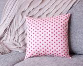 Nyome Boyd: Cushion Cover - Small Pink Polka - Medium 43x43cm