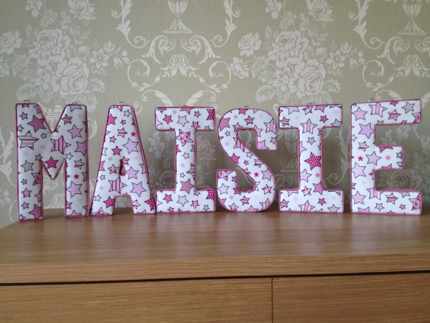 Fabric letters wall decor : Fabric letters d wall art ideal nursery or