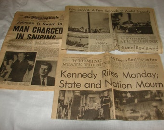 Kennedy Assassination newspaper accounts