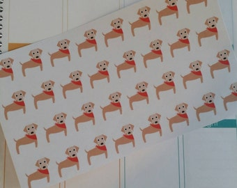 Yellow Lab Stickers! Dog Stickers! Perfect for your Erin Condren Life Planner, calendar, Paper Plum, Filofax!