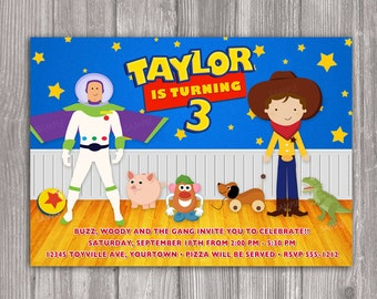Toy Story Invitation for Birthday Party - DIY Print Your Own Invite - Printable Digital File