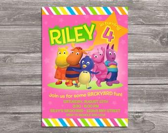 Backyardigans Invitation for Birthday Party - DIY Print Your Own Invite - Printable Digital File