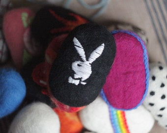Felted Soap With Embroidery For Men