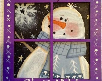 Window Snowman Ornament