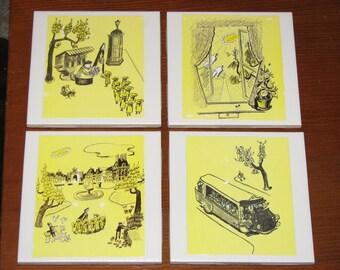Madeline Book Coaster Set
