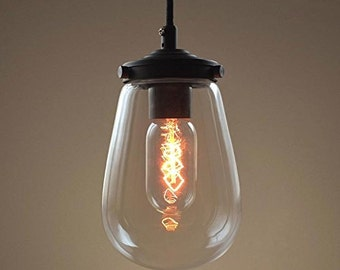Glass Pendant Light Lamp Modern Home Decoration Edison Chandelier