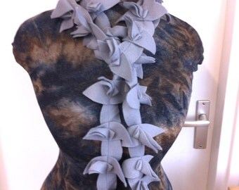 Fleece scarf grey