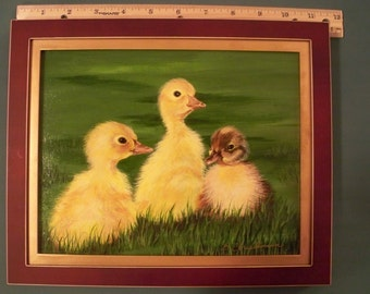 3 Little Ducklings Painting