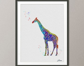 Giraffe Print Giraffe  watercolor art Giraffe  poster Gift Poster Wall Hanging Wall Decor Giraffe for children  watercolor print  No.A016