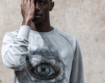 Sweatshirt • ALL SEEING EYE esoteric (grey) - Collection limited-
