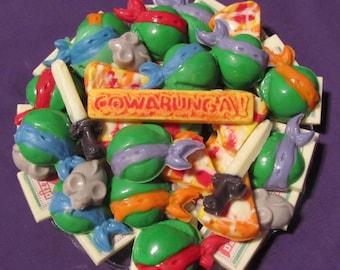 Ninja Turtles chocolates candy tray