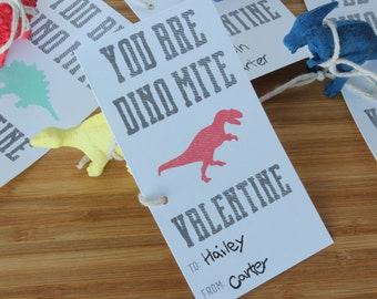 Printable Valentine - You Are Dino-Mite Valentine