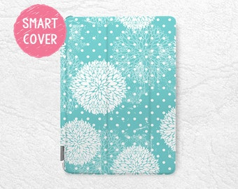 Floral pattern Polka dots Smart Cover for iPad Mini, iPad mini 2 retina, iPad Air, iPad Air 2, iPad Pro 12.9 inch, New iPad 9.7 inch (2017)