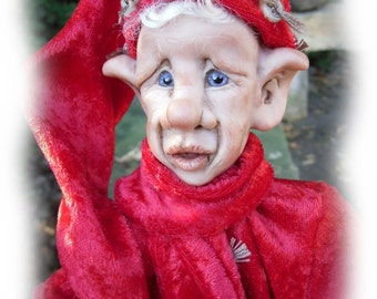 Twiggywinkles, A OOAK Lil Darlin' Original, BareFoot Santa Elf from the BareFoot Santa Elf Series
