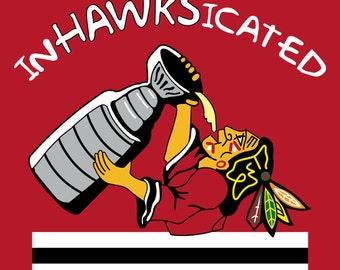 "Chicago Blackhawks ""InHAWKSicated"" Stanley Cup Celebration 4""x4"" Fridge Magnet"