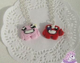 Super Meat Boy jewelry necklace earrings