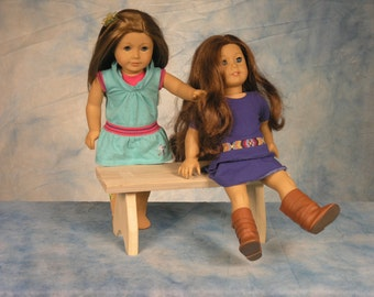 All American Doll Bench