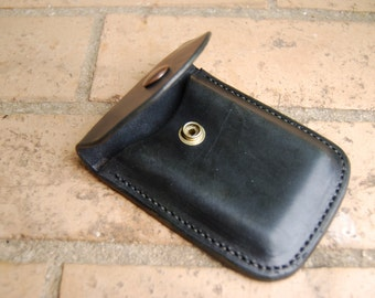 Hand made Business Card Holder in 8 oz leather