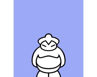 Sumo Screen Print - small