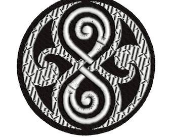 INSTANT-Machine Embroidery Design Download~Dr Who~Symbol~fan~Whovian Patch~Tardis~Classic~TV Show~British~Time Machine~~MaryMeridius 4x4