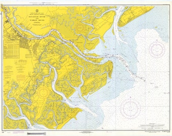 Tybee Roads - Savannah Map 1970