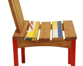 Comfy chair hardwood POPENGUINE with Dugout and removable backrest