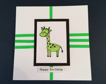Happy Birthday Giraffe Birthday Card