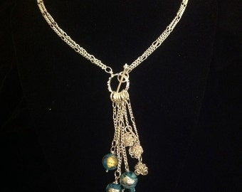 Venetian Glass Bead Lariat