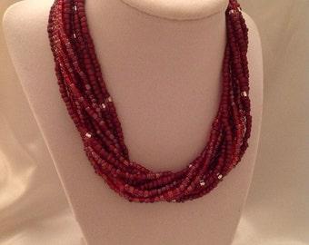 Merlot Multi-Strand Necklace
