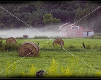 Landscape photography farm mist countryside home decoration decor wall art photo photograph