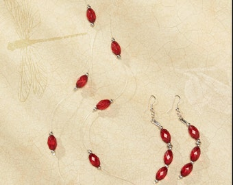 Nice Red Necklace and earrings <3