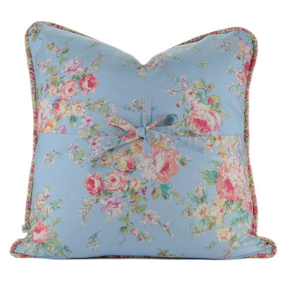 Etsy Shabby Chic Throw Pillows : Shabby Chic Decorative Pillow Cover with Piping : Shabby Chic