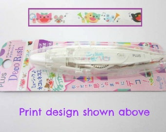 Japanese Deco tape pen cat and mouse design