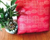 W. Africa-Large hand-stitched throw pillow with West African fabric