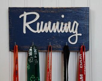 Running Medal Holder - Carved Sign - Race Medals