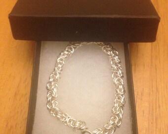 Chain Bracelet - Sterling Silver - Byzantine