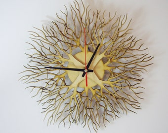 "Wooden wall clock ""TREES"""