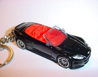 3D Aston Martin DBS Volante custom keychain by Brian Thornton keyring key chain finished in black