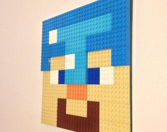 Items similar to lego wall art peridot on etsy for 8 bit room decor