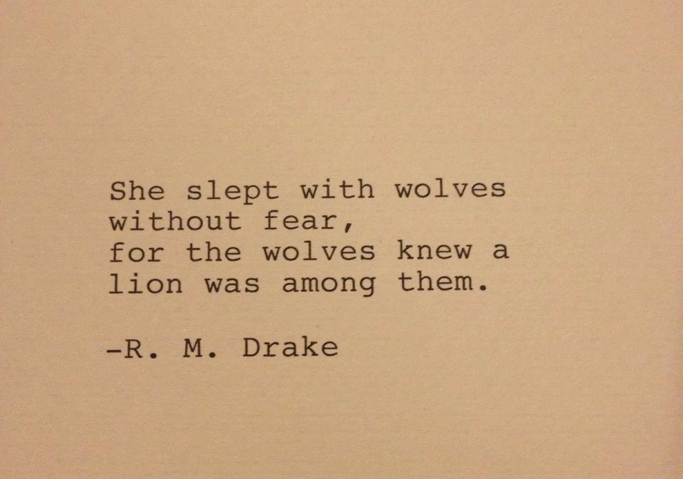 R M Drake Quote: R. M. Drake Hand Typed Typewriter Quote She Slept With