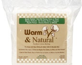 Batting 90-Inch by 108-Inch Warm and Natural Cotton Batting, Queen