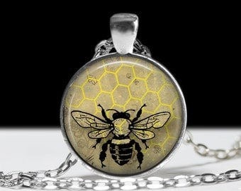 Bee Jewelry Bumble Bee Pendant Wearable Art Inscect Jewelry