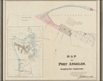 24x36 Poster; Map Of Port Angeles, Washington Territory 1891