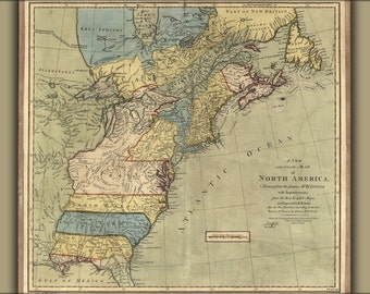 24x36 Poster; 1771 Map Of North America United States Colonies