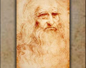 24x36 Poster; Leonardo Da Vinci Self Portrait