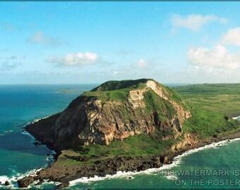 24x36 Poster; Mount Suribachi On The Island Of Iwo Jima, Japan